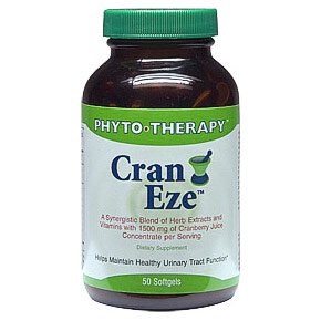 Cran Eze with Cranberry Concentrate, 50 Veggie Capsules, Phyto-Therapy (Phyto Therapy)