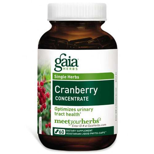 Cranberry Concentrate, 60 Liquid Phyto-Caps, Gaia Herbs