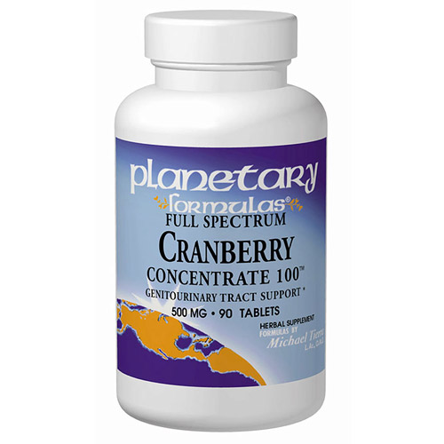 Cranberry Concentrate (Cranberry Extract) 560mg 45 tabs, Planetary Herbals