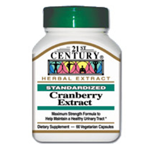 Image of Cranberry Extract 60 Vegetarian Capsules, 21st Century Health Care