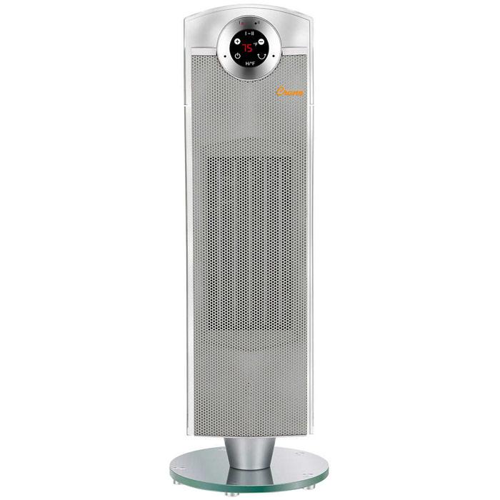 Image of Crane 27 Inch 1500 Watt Digital Ceramic Tower Heater Slate