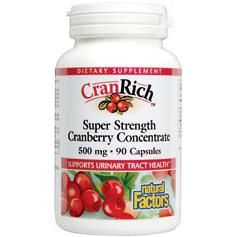 CranRich Cranberry Concentrate 500mg 180 Capsules, Natural Factors