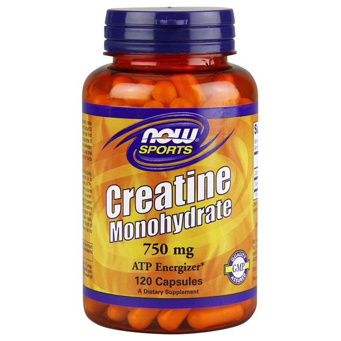 Creatine Monohydrate 750 mg, 120 Capsules, NOW Foods