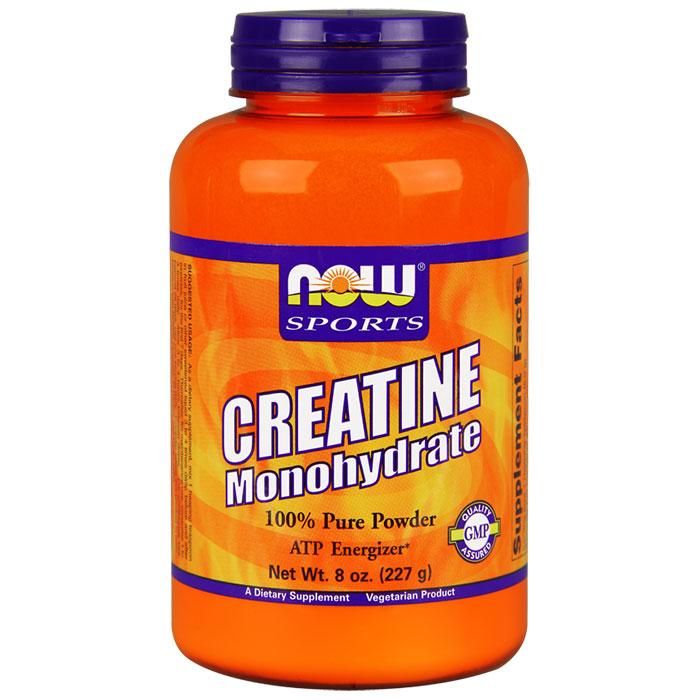 Creatine Monohydrate Powder Pure, 8 oz, NOW Foods