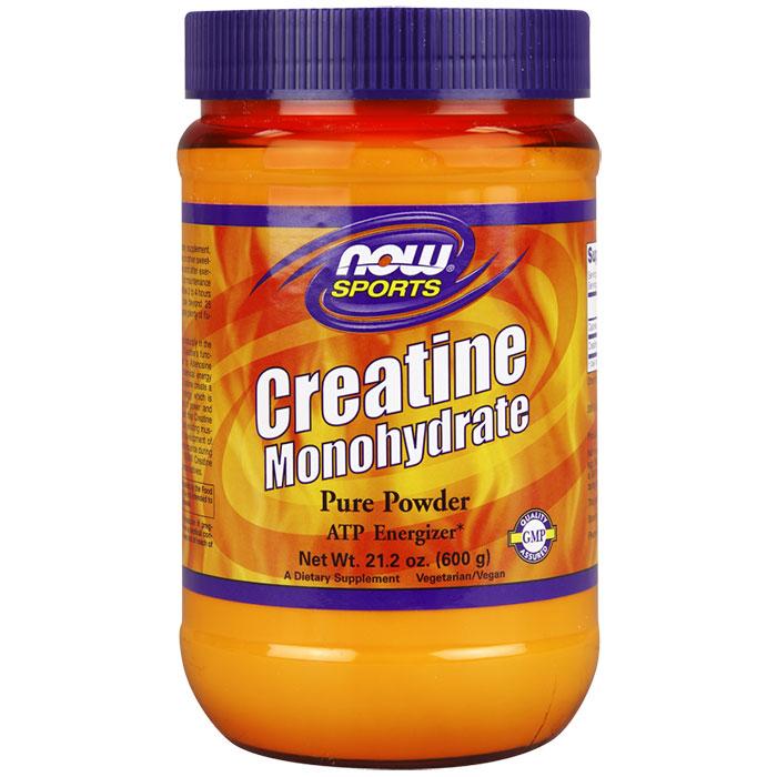 Creatine Monohydrate Pure Powder, 21.2 oz, NOW Foods