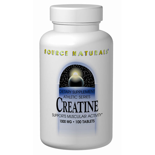 Creatine 1000mg 100 tabs from Source Naturals