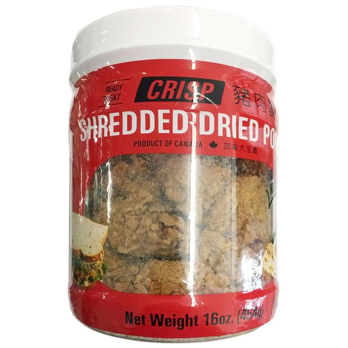 Crisp Shredded Dried Pork, 16 oz (454 g), Soo Jerky