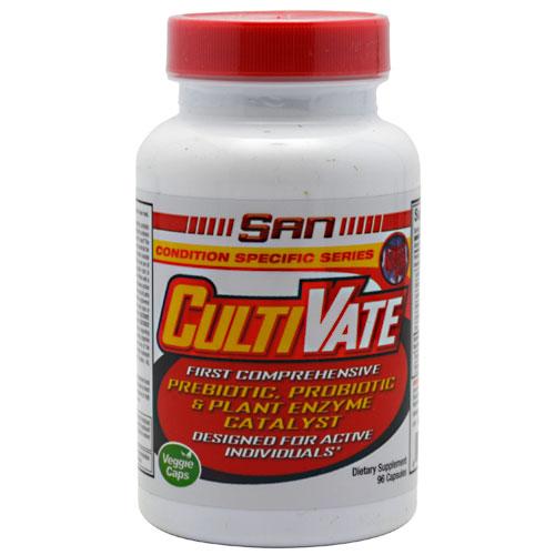 CultiVate, Probiotic & Plant Enzyme Catalyst, 96 Capsules, SAN Nutrition