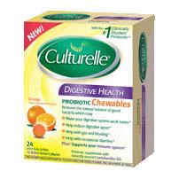 Culturelle Digestive Health Probiotic Chewables, Orange, 24 Tablets, i-Health, Inc.