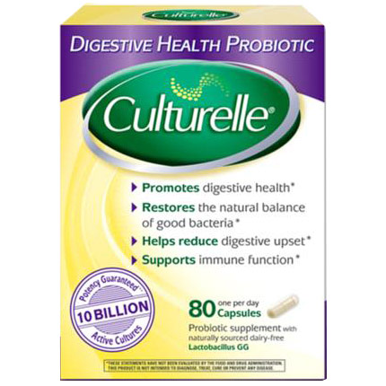 Culturelle Digestive Health Probiotic, 80 Capsules, Dairy and Gluten Free
