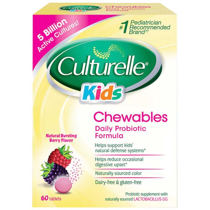 Culturelle Kids Chewables Daily Probiotic Formula, 60 Tablets