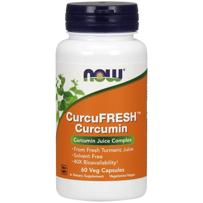 CurcuFRESH Curcumin, From Fresh Turmeric Juice, 60 Veg Capsules, NOW Foods