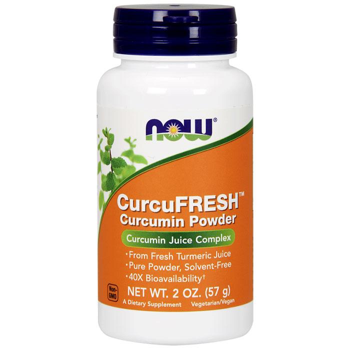 CurcuFRESH Curcumin Powder, 2 oz, NOW Foods