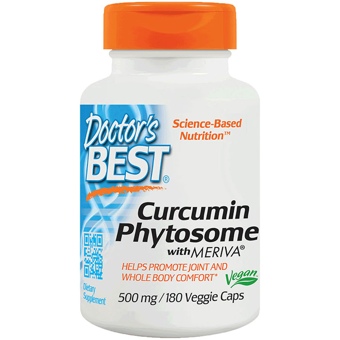 Curcumin Phytosome featuring Meriva, 500 mg, 180 Vegetarian Capsules, Doctors Best