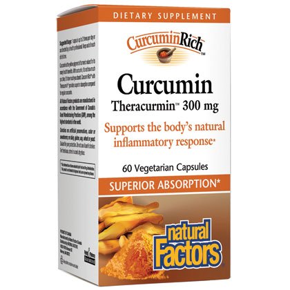 CurcuminRich Curcumin Theracurmin, Curcumin Rich, 30 Vegetarian Capsules, Natural Factors