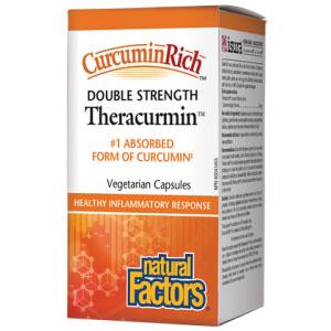 CurcuminRich Theracurmin Double Strength, Turmeric Curcumin, 30 Vegetarian Capsules, Natural Factors