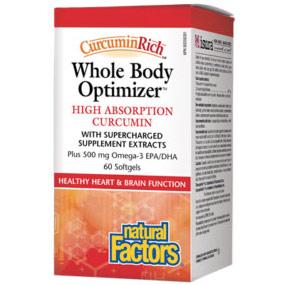 CurcuminRich Whole Body Optimizer, High Absorption Curcumin, 60 Softgels, Natural Factors