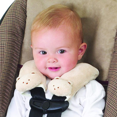 Cushy Straps Travel Pals, Cushioned Harness Covers, Ivory Teddy Bear, Summer Infant Baby Products