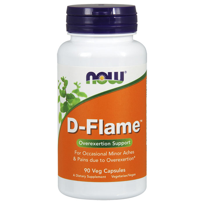D-Flame, Overexertion Support, 90 Veg Capsules, NOW Foods