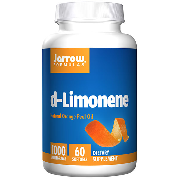 D-Limonene 1000 mg, Natural Orange Peel Oil, 60 Softgels, Jarrow Formulas