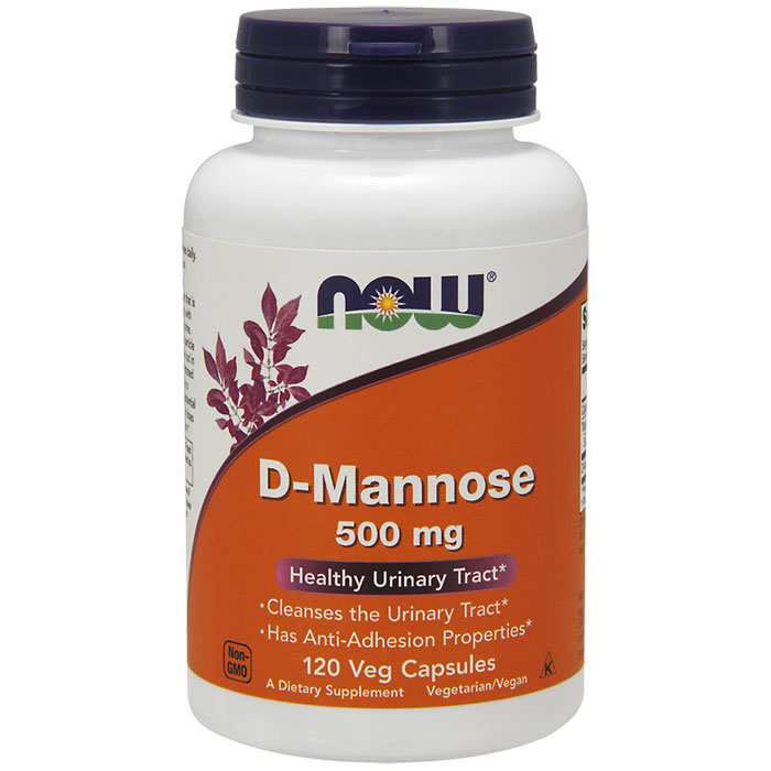 D-Mannose 500 mg, 120 Capsules, NOW Foods