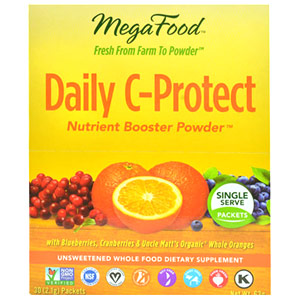 Daily C-Protect Nutrient Booster Powder, 30 Packets, MegaFood