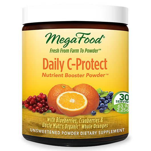 Daily C-Protect, Nutrient Booster Powder with Organic Oranges, 30 Servings (63.9 g), MegaFood