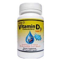 Daily D, Vitamin D3 5000IU, 100 Veggie Capsules, Coral LLC