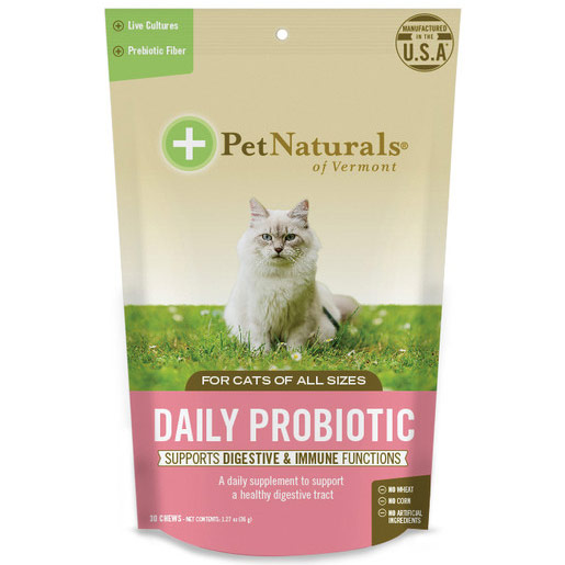 Daily Probiotic for Cats, 30 Chews, Pet Naturals of Vermont