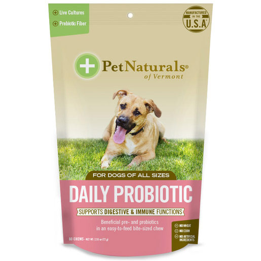 Daily Probiotic for Dogs, 60 Chews, Pet Naturals of Vermont