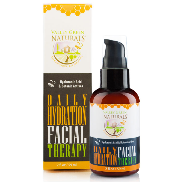 Daily Hydration Facial Therapy Moisturizer, 2 oz, Valley Green Naturals