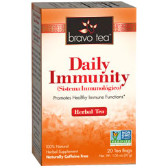 Daily Immunity Herbal Tea, 20 Tea Bags, Bravo Tea
