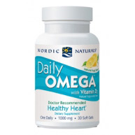 Daily Omega with Vitamin D3, 30 Softgels, Nordic Naturals