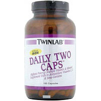 Daily Two High Potency Multivitamins No Iron 180 caps from Twinlab