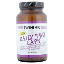 Daily Two High Potency Multivitamins No Iron 90 caps from Twinlab