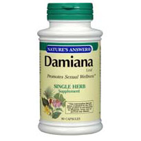 Damiana Leaf 90 caps from Natures Answer