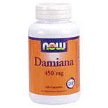 Damiana Leaves 450mg 100 Caps, NOW Foods
