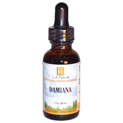 Damiana Wildcrafted, 1 oz, L.A. Naturals