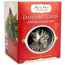 Dancing Leaves Flowering Tea Gift Set, 5 Blossoms + 1 Teapot, Numi Tea