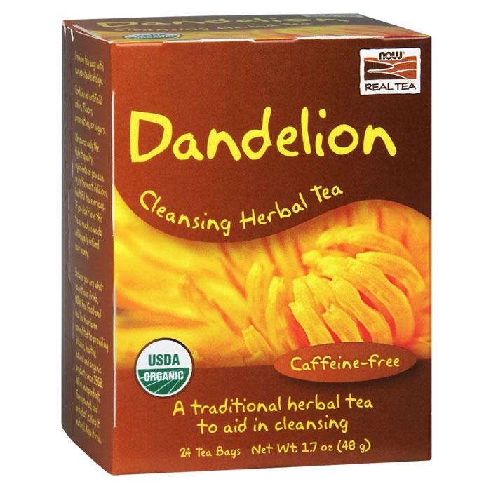 Dandelion Cleansing Herbal Tea, 24 Tea Bags, NOW Foods