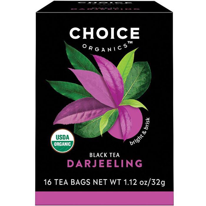 Darjeeling Black Tea, 16 Tea Bags, Choice Organic Teas
