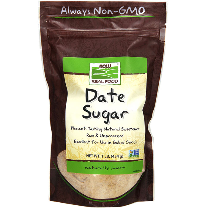 Date Sugar 1 lb, NOW Foods