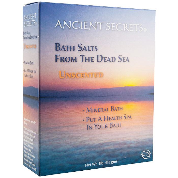 Dead Sea Bath Salts - Unscented, 1 lb, Ancient Secrets