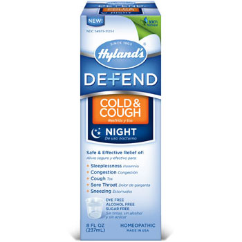 Defend Cold & Cough Night Liquid / Syrup, 8 oz, Hylands (Hylands)