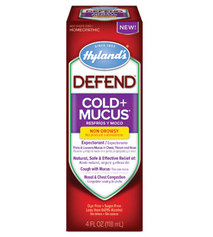 DEFEND Cold + Mucus Liquid Formula, 4 oz, Hylands