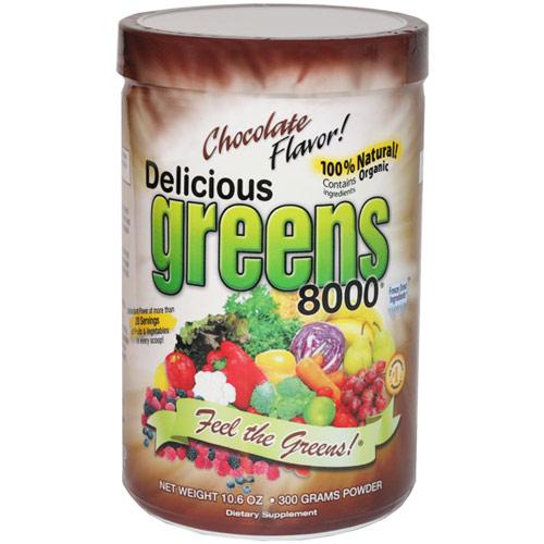 Delicious Greens 8000 Superfood Drink, Mocha Cafe Flavor, 10.6 oz, Greens World Inc.