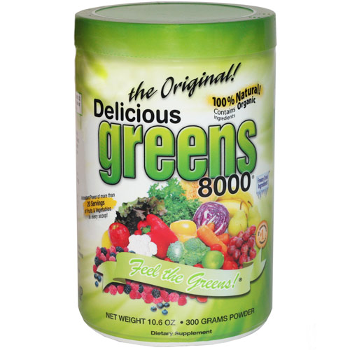 Delicious Greens 8000 Superfood Drink, Original Flavor, 10.6 oz, Greens World Inc.