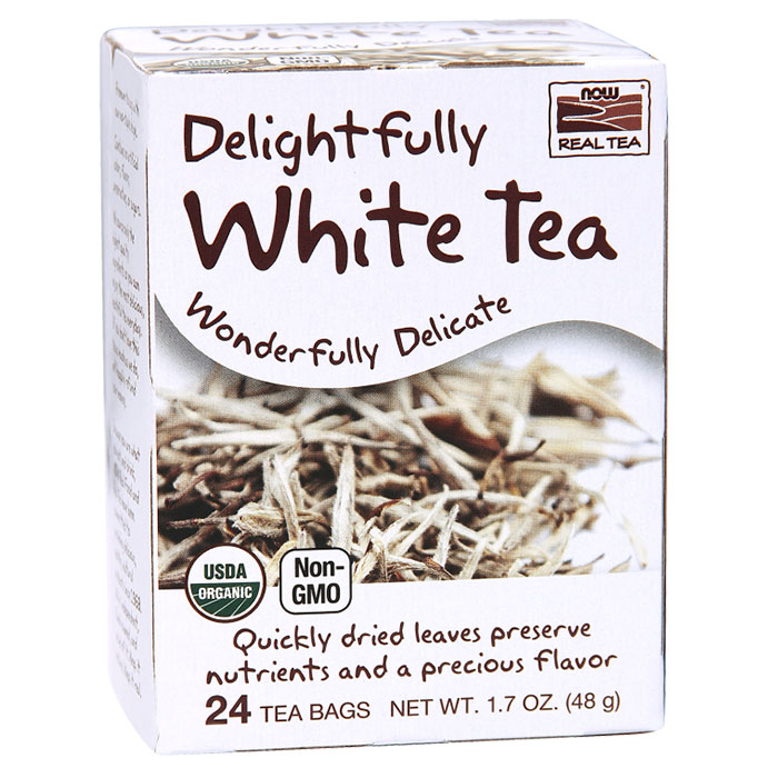 Delightfully White Tea, Organic, 24 Tea Bags, NOW Foods