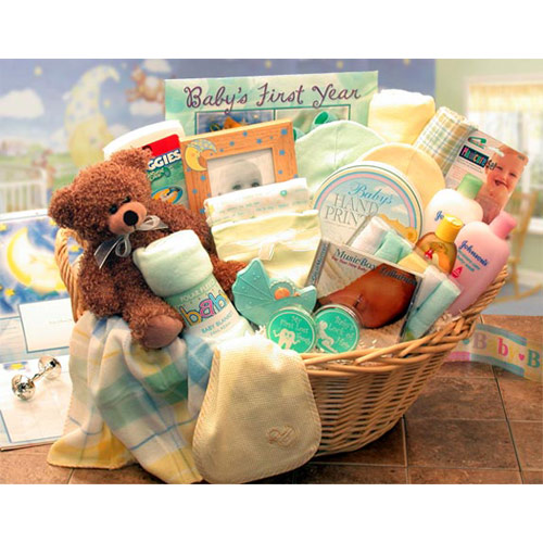 Deluxe Welcome Home Precious Baby Gift Basket, Elegant Gift Baskets Online