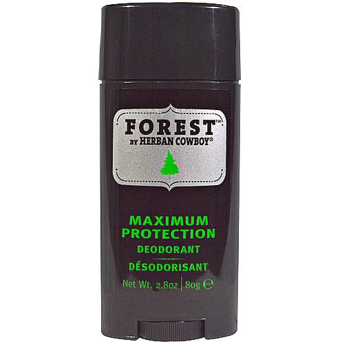 Herban Cowboy Forest Deodorant, Maximum Protection, 2.8 oz